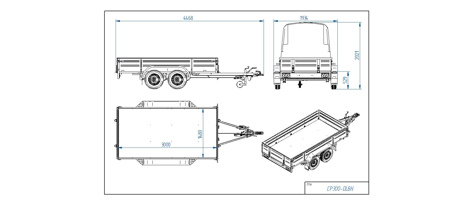 CP300-DLBH  [Priekabų standartinė įranga gali skirtis nuo pavaizduotos komplektacijos paveiksliuke]