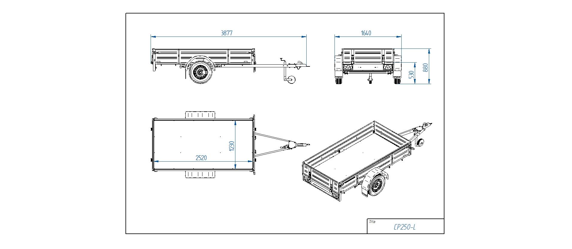 CP250-L  [Priekabų standartinė įranga gali skirtis nuo pavaizduotos komplektacijos paveiksliuke]