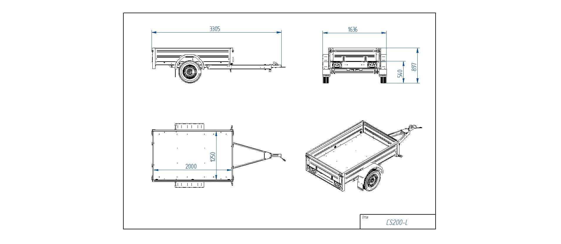 CS200-L [Priekabų standartinė įranga gali skirtis nuo pavaizduotos komplektacijos paveiksliuke]