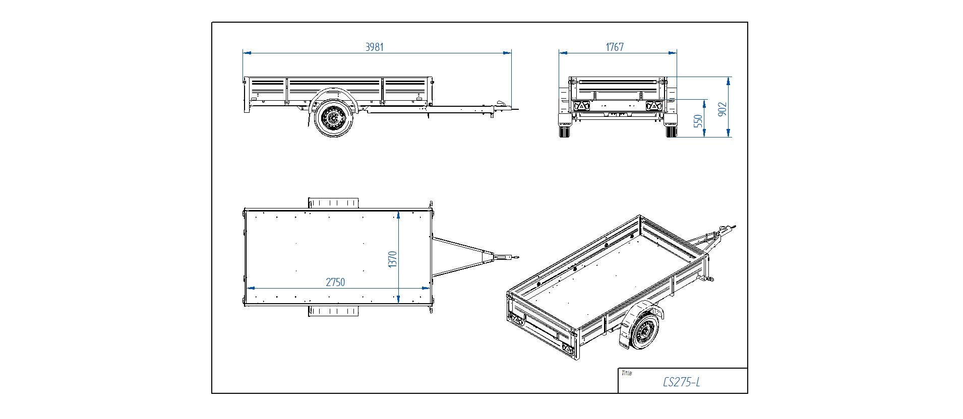 CS275-L [Priekabų standartinė įranga gali skirtis nuo pavaizduotos komplektacijos paveiksliuke]