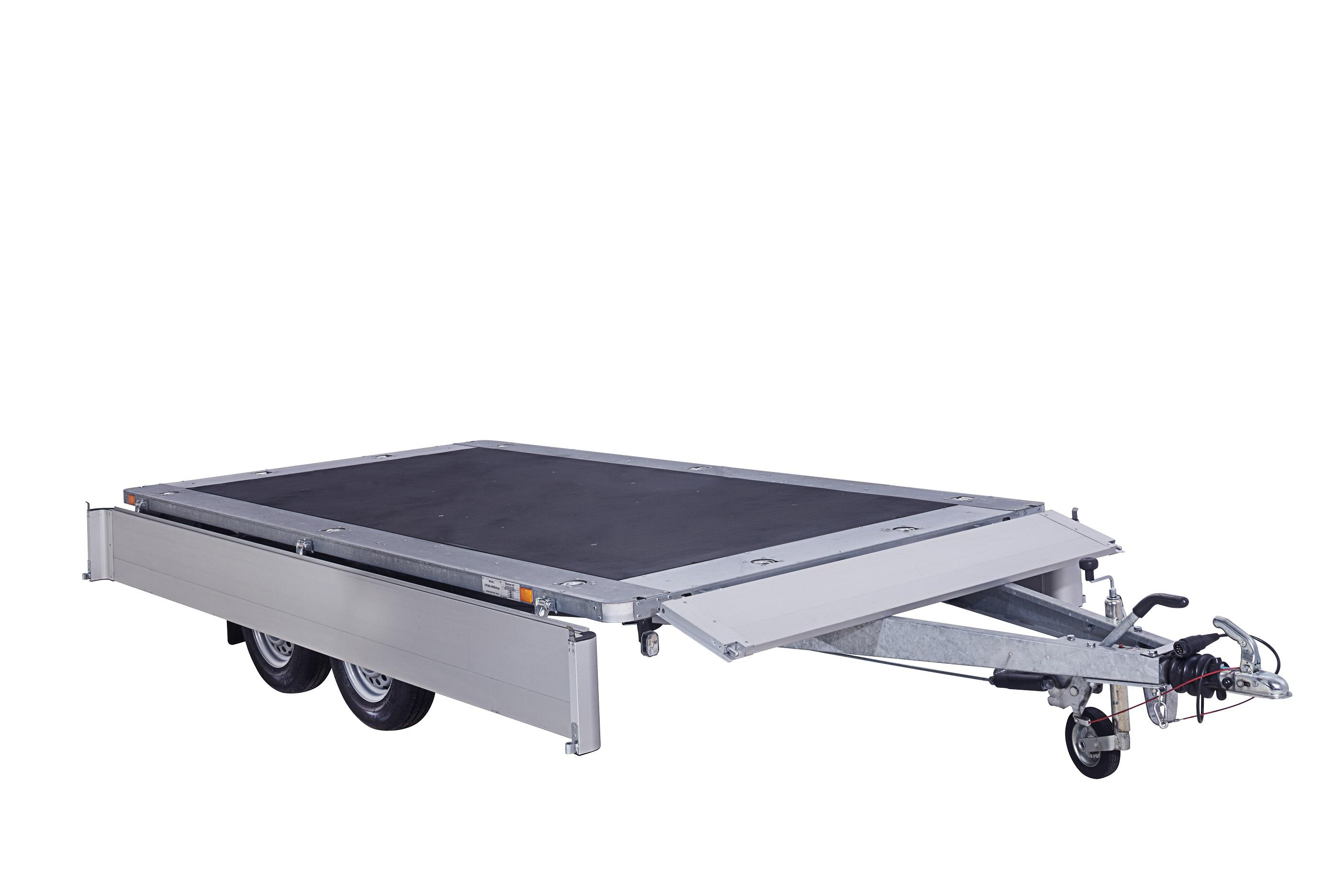 CP350-DRB drop/alu 2000kg  [Priekabų standartinė įranga gali skirtis nuo pavaizduotos komplektacijos paveiksliuke]