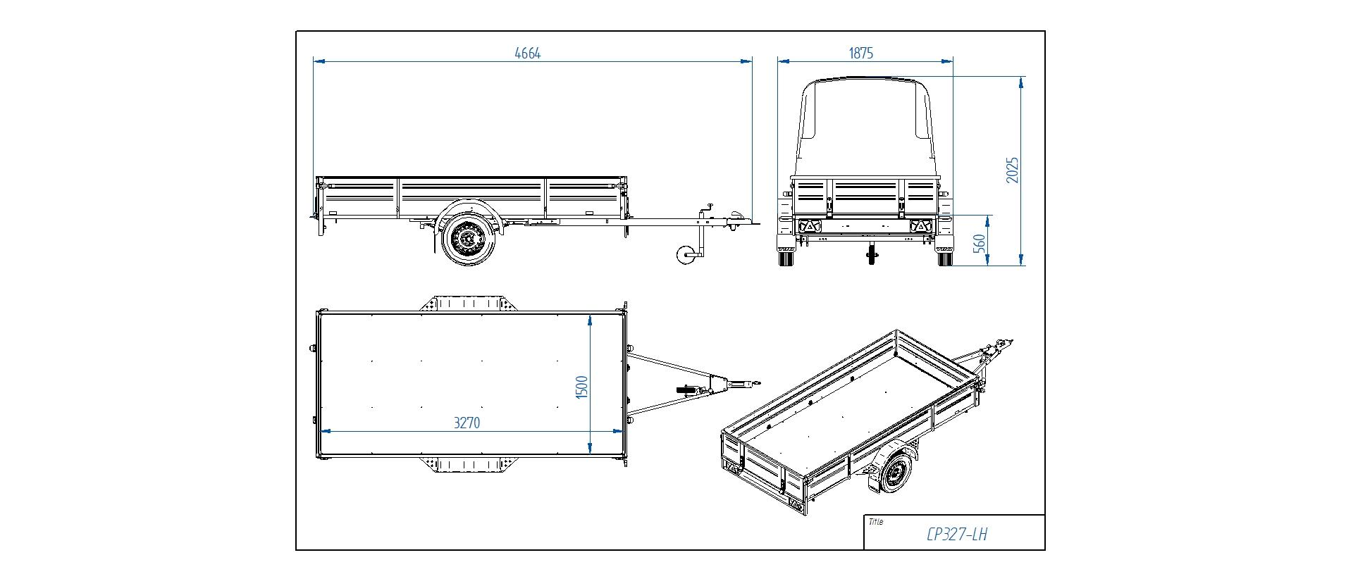CP327-LH  [Priekabų standartinė įranga gali skirtis nuo pavaizduotos komplektacijos paveiksliuke]