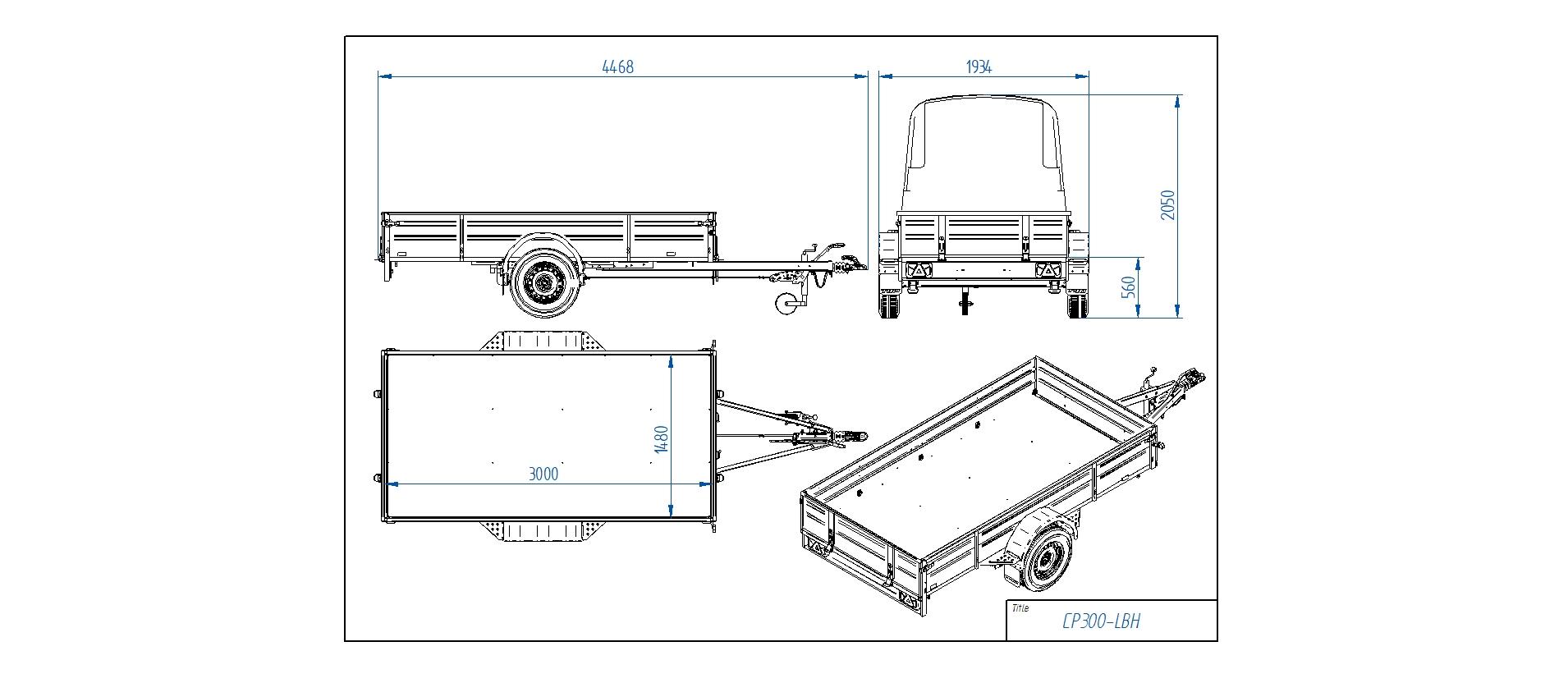 CP300-LBH  [Priekabų standartinė įranga gali skirtis nuo pavaizduotos komplektacijos paveiksliuke]