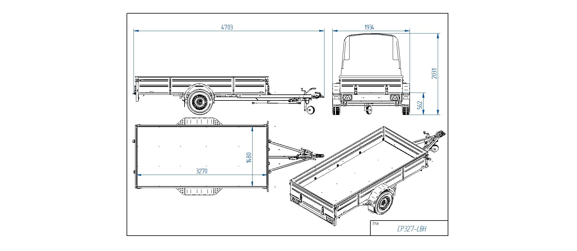CP327-LBH  [Priekabų standartinė įranga gali skirtis nuo pavaizduotos komplektacijos paveiksliuke]