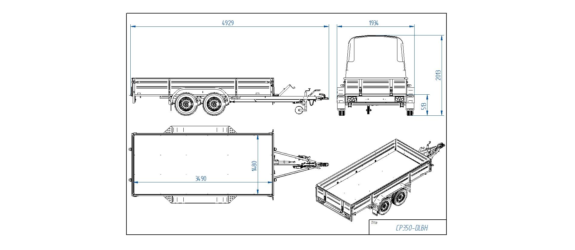 CP350-DLBH  [Priekabų standartinė įranga gali skirtis nuo pavaizduotos komplektacijos paveiksliuke]