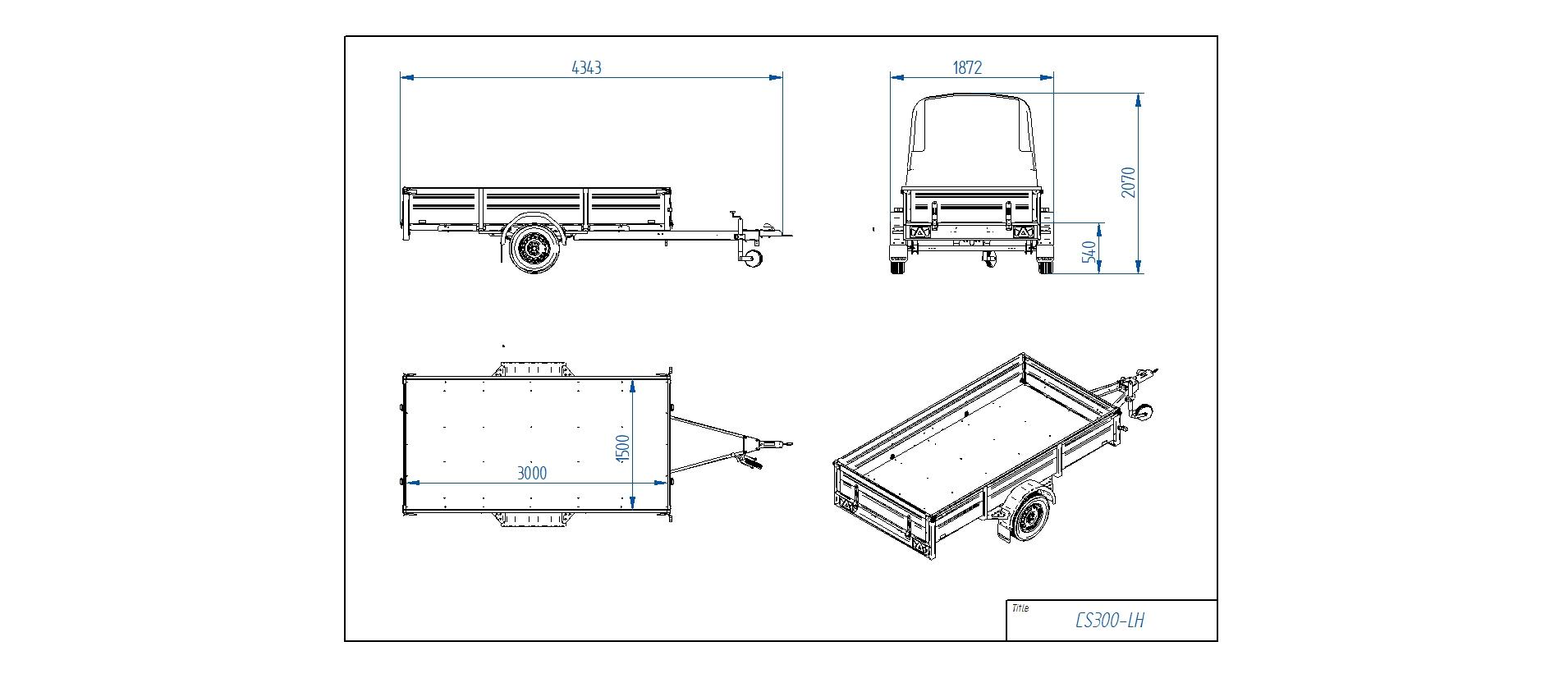 CS300-LH [Priekabų standartinė įranga gali skirtis nuo pavaizduotos komplektacijos paveiksliuke]
