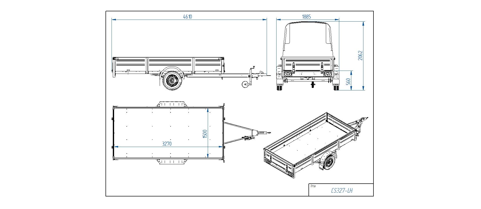 CS327-LH [Priekabų standartinė įranga gali skirtis nuo pavaizduotos komplektacijos paveiksliuke]