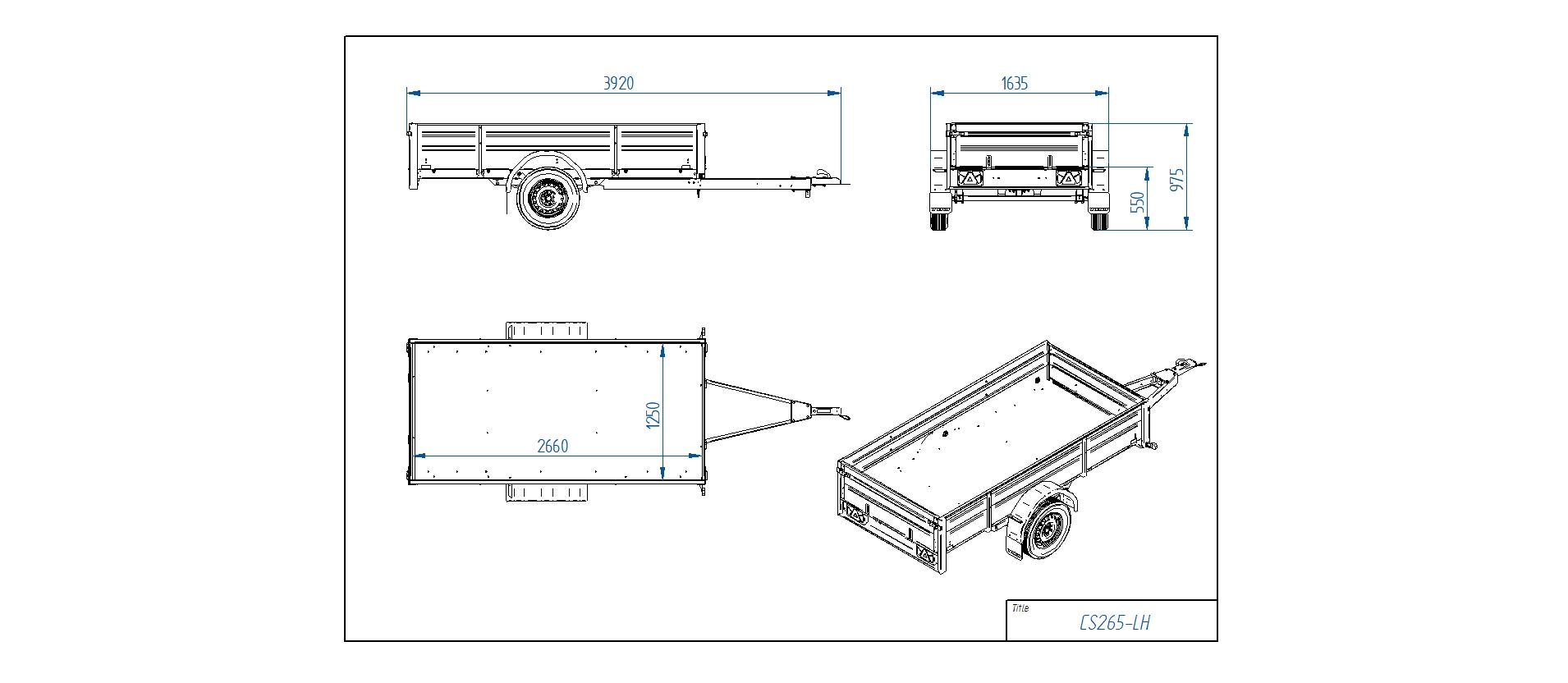 CS265-LH [Priekabų standartinė įranga gali skirtis nuo pavaizduotos komplektacijos paveiksliuke]