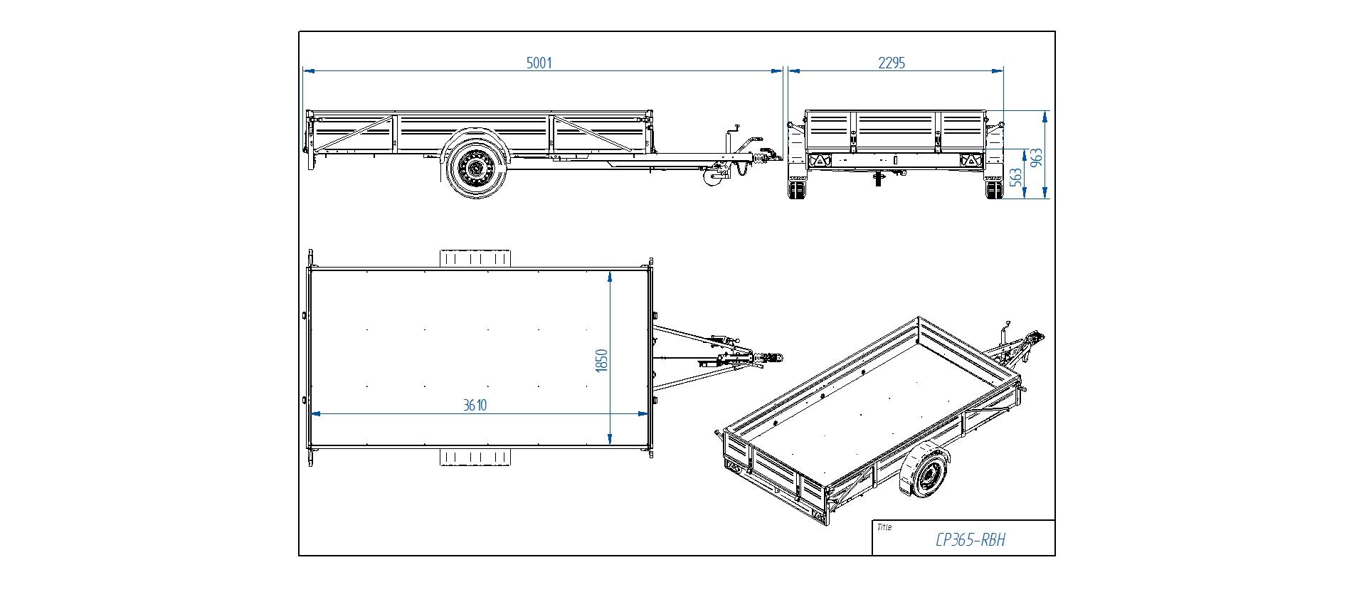CP365-RBH  [Priekabų standartinė įranga gali skirtis nuo pavaizduotos komplektacijos paveiksliuke]