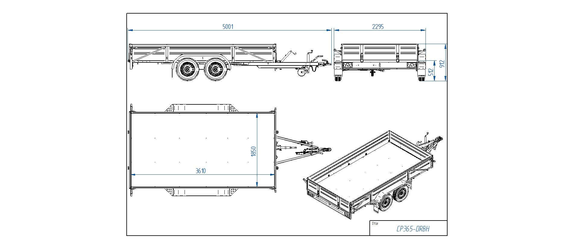 CP365-DRBH  [Priekabų standartinė įranga gali skirtis nuo pavaizduotos komplektacijos paveiksliuke]