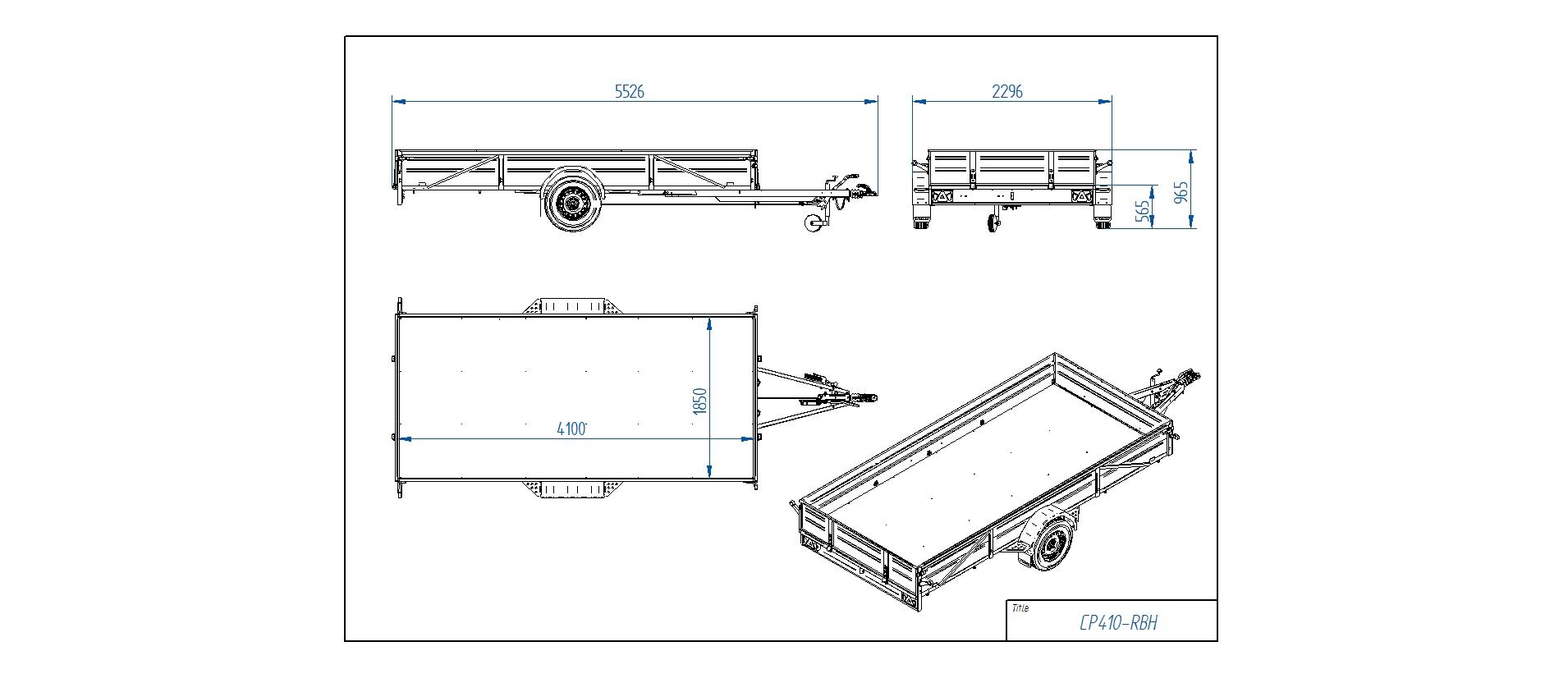 CP410-RBH  [Priekabų standartinė įranga gali skirtis nuo pavaizduotos komplektacijos paveiksliuke]