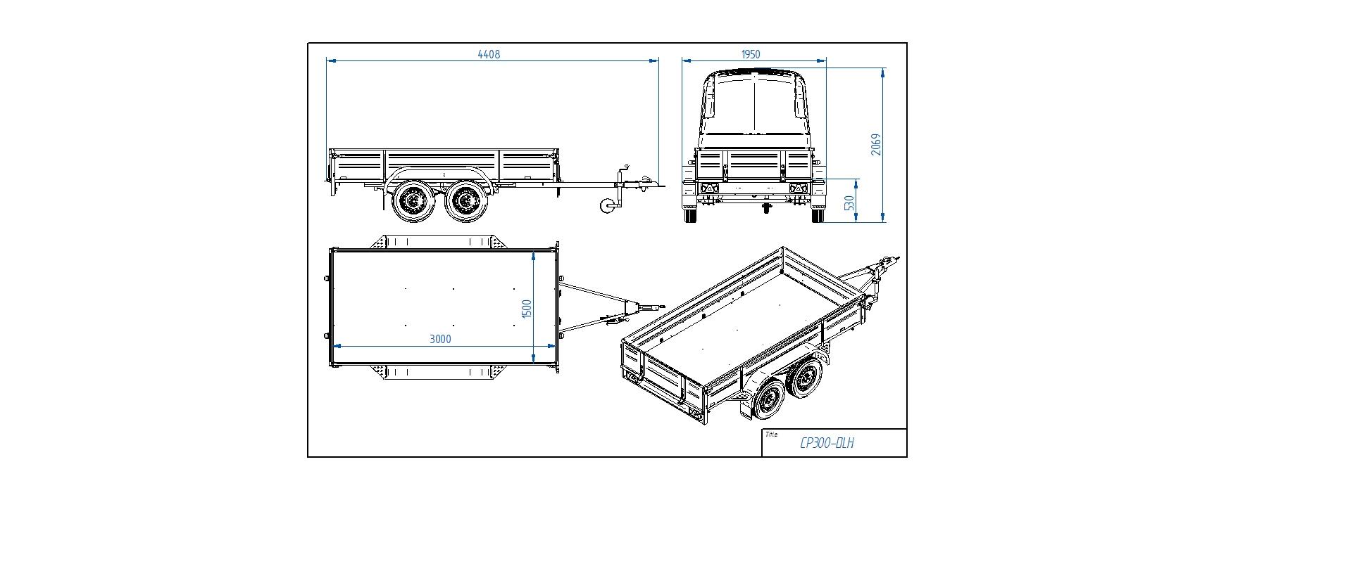 CP300-DLH  [Priekabų standartinė įranga gali skirtis nuo pavaizduotos komplektacijos paveiksliuke]