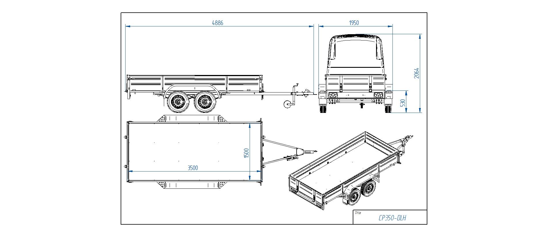 CP350-DLH  [Priekabų standartinė įranga gali skirtis nuo pavaizduotos komplektacijos paveiksliuke]