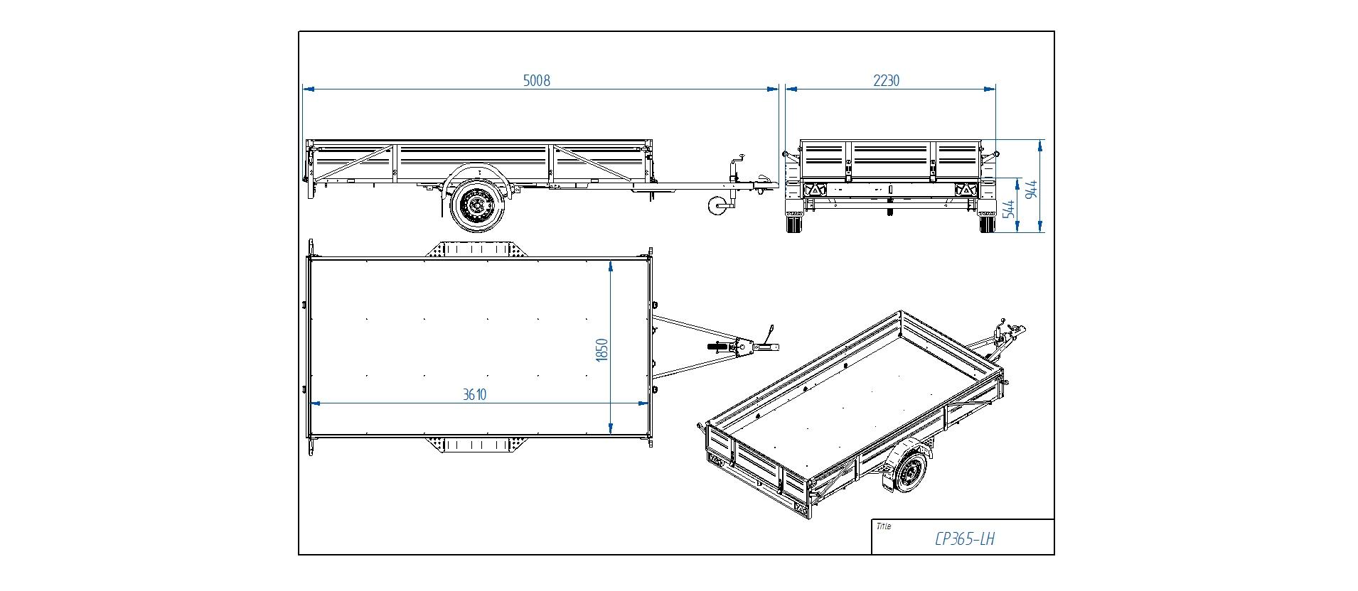 CP365-LH [Priekabų standartinė įranga gali skirtis nuo pavaizduotos komplektacijos paveiksliuke]