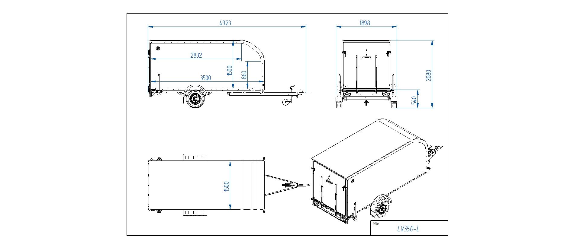 CV350-L [Priekabų standartinė įranga gali skirtis nuo pavaizduotos komplektacijos paveiksliuke]